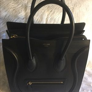 💗CELINE MINI LEATHER LUGGAGE HANDBAG. 💗
